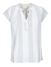 Bluse mit Struktur-Muster - Bright White