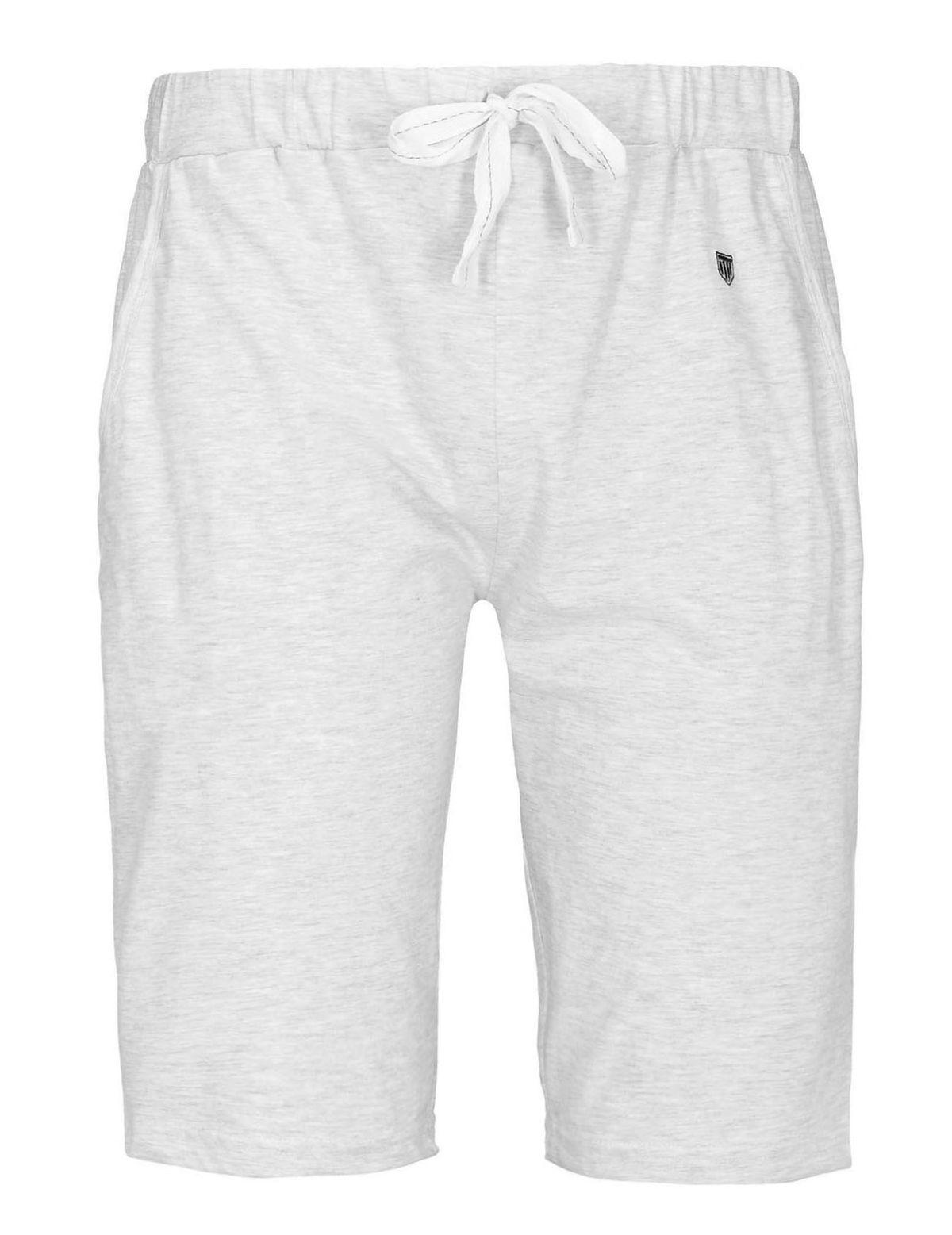 HOMEWEAR Pyjama Shorts mit Tunnelzug - Grey Melange