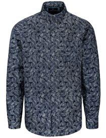 Freizeithemd mit Brusttasche MODERN FIT - Blue Navy