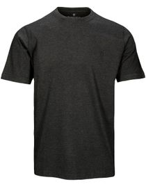 Basic T-Shirt mit Rundhalsausschnitt - Anthra Meliert