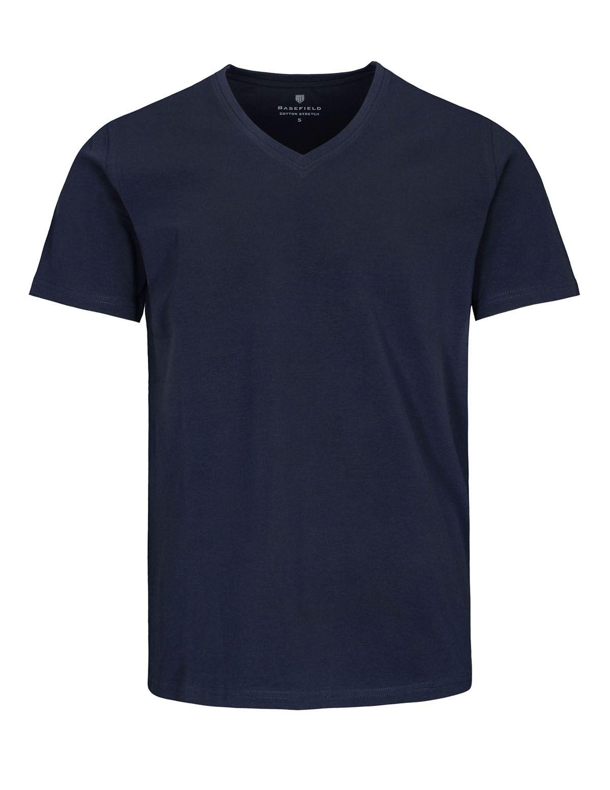 T-Shirt mit V-Ausschnitt - Navy