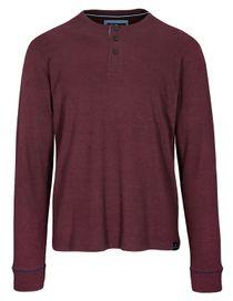 ORGANIC COTTON Henley Shirt - Pepper