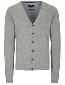V-Cardigan - Grey Meliert