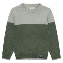 BASEFIELD Pullover - Mid Grey Melange