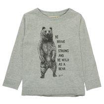 BASEFIELD Shirt Slim Fit mit Print - Mid Grey Melange