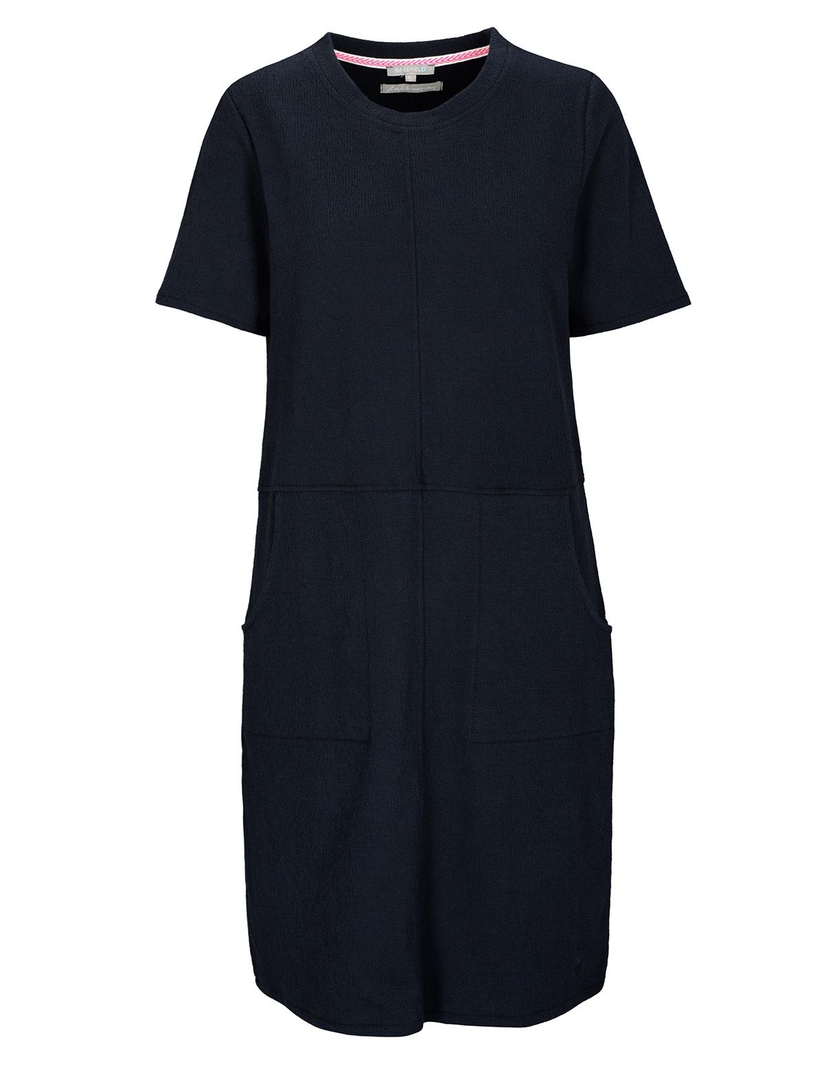 Kleid mit Strukturmuster - Blue Navy
