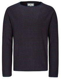 Pullover Streifen - Grey Melange