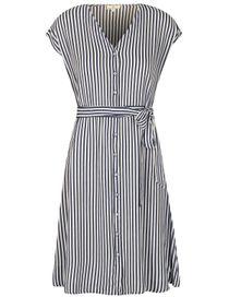 Streifenkleid mit Armbändchen - Denimblue White