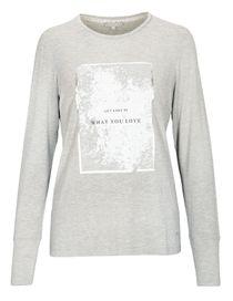 T-Shirt - NELLE mit Front-Print - Misty Grey