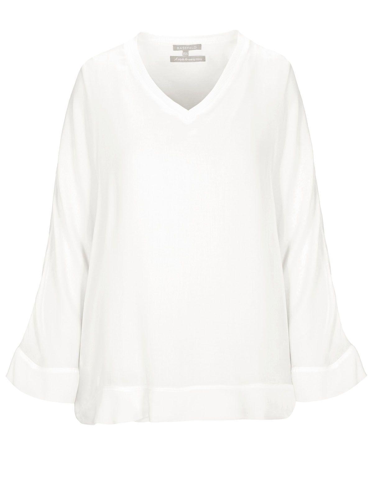 Blusenshirt mit Untertop - Soft White