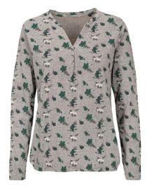FRY DAY Shirt mit Blumen-Print - Dark Olive