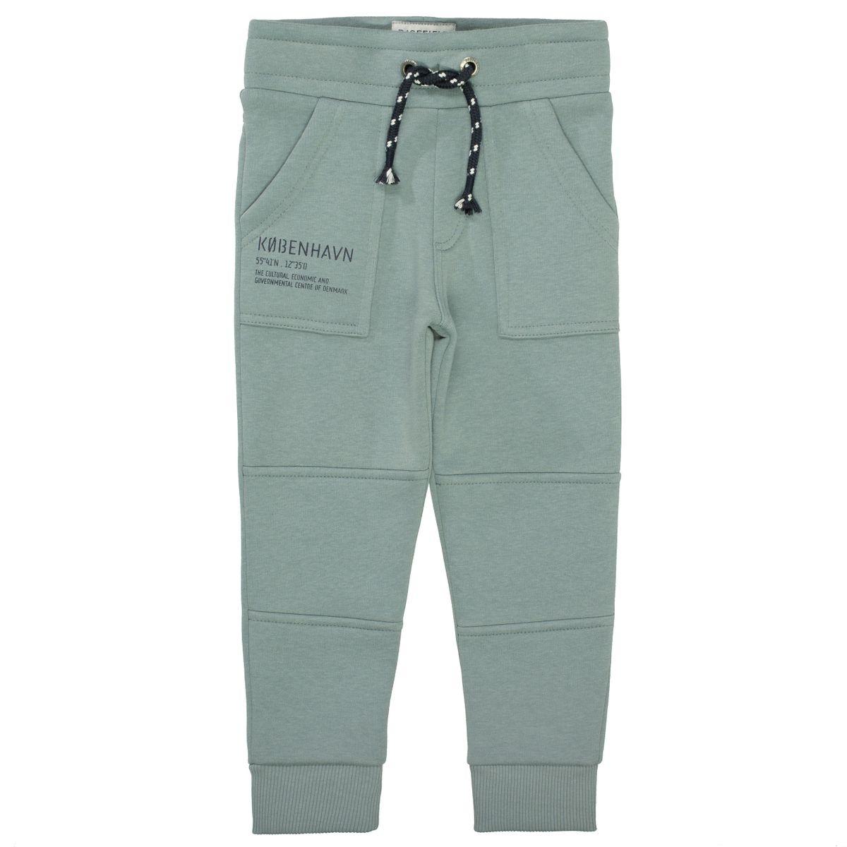 BASEFIELD Sweatpants mit Teilungsnähten - Dusty Green