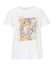 T-Shirt Organic Cotton mit Front-Print - Bright White