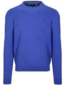 Pullover - STEFAN mit meliertem Design - Cobalt