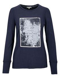 T-Shirt - NELLE mit Front-Print - Blue Navy