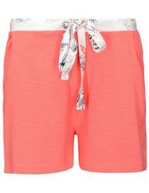 HOMEWEAR Shorts mit Kontrast-Paspelierung - Melone