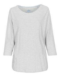 Shirt mit Streifen-Design - Silvergrey Melange