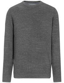 Rundhals Pullover - Grey Melange