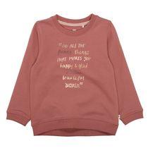 BASEFIELD Sweatshirt mit Wording-Print - Indian Red