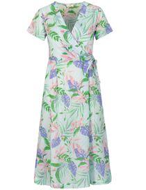 Kleid in Wickeloptik - Summerblue White